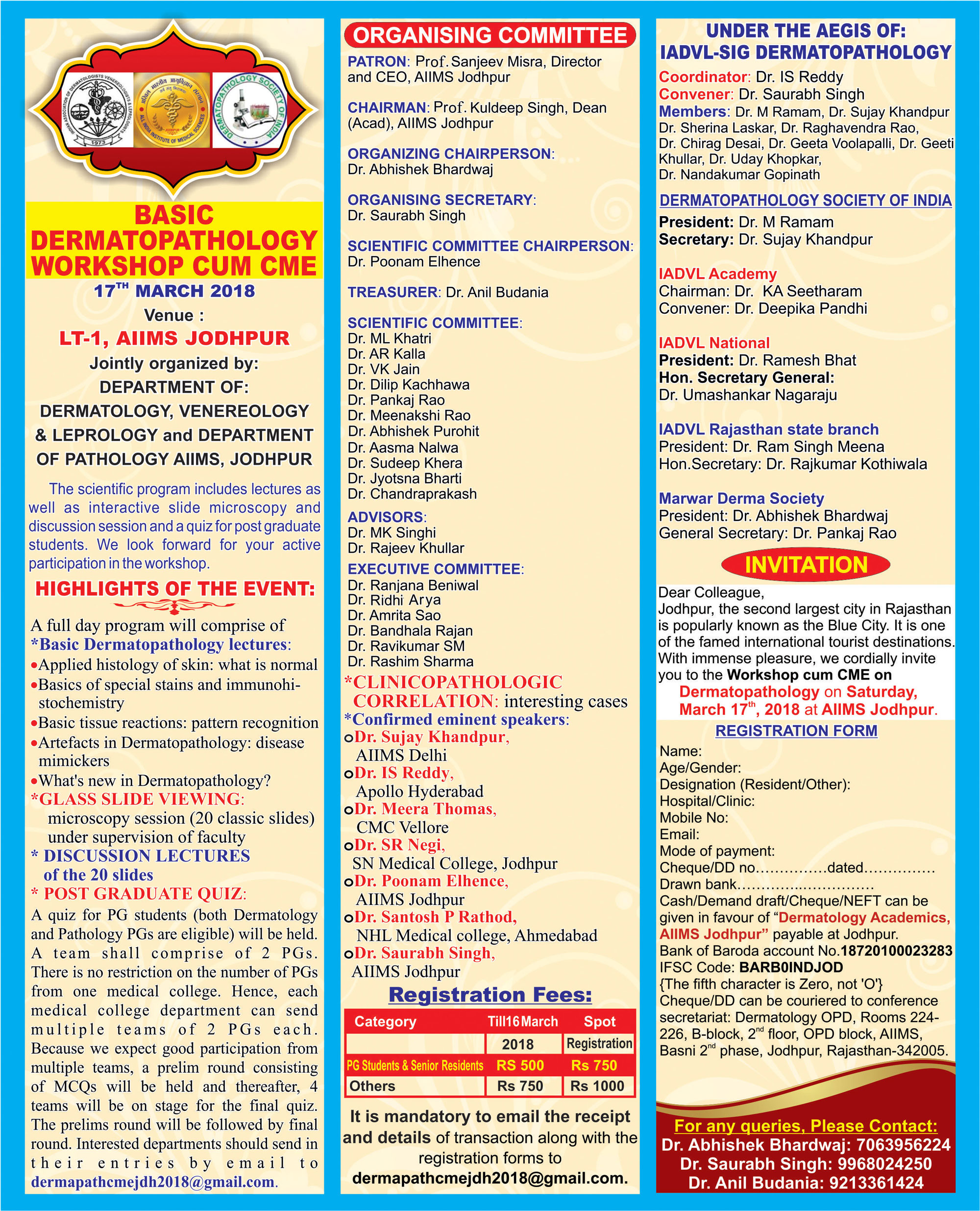 Dermatopathology Society of India Meetings